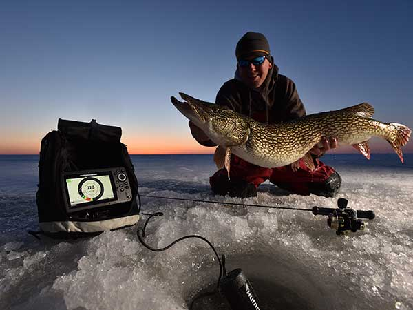 Ice fishing has gone high-tech.