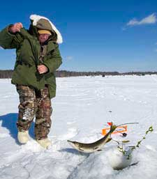 Tip-ups offer anglers more options on the ice.