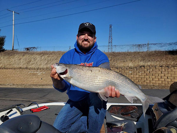 Phil Duracz with Indiana state record whitefish