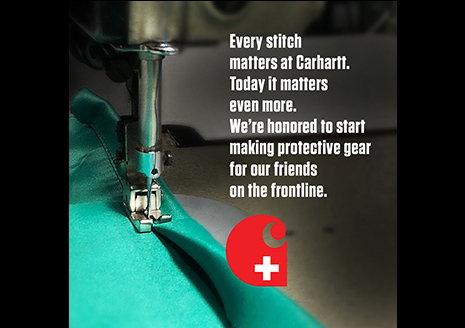 Carhartt to Produce Medical Gear for Hospitals