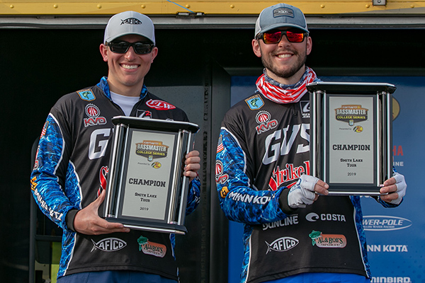 Grand Valley State Duo Wins Bassmaster College Series Event On Alabama's Smith Lake